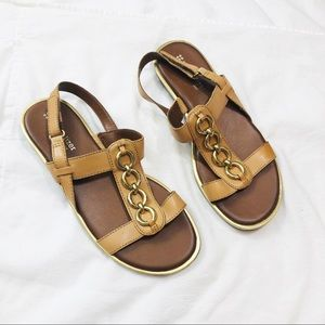 Naturalizer tan Harrison leather sandals 6.5. New